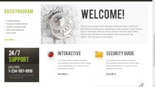 Private Security Agency Website Template