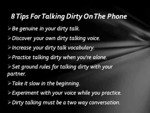 Dirty talk over the phone
