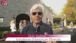 Bob Baffert rend un dernier hommage à American Pharaoh pour son entrée au haras