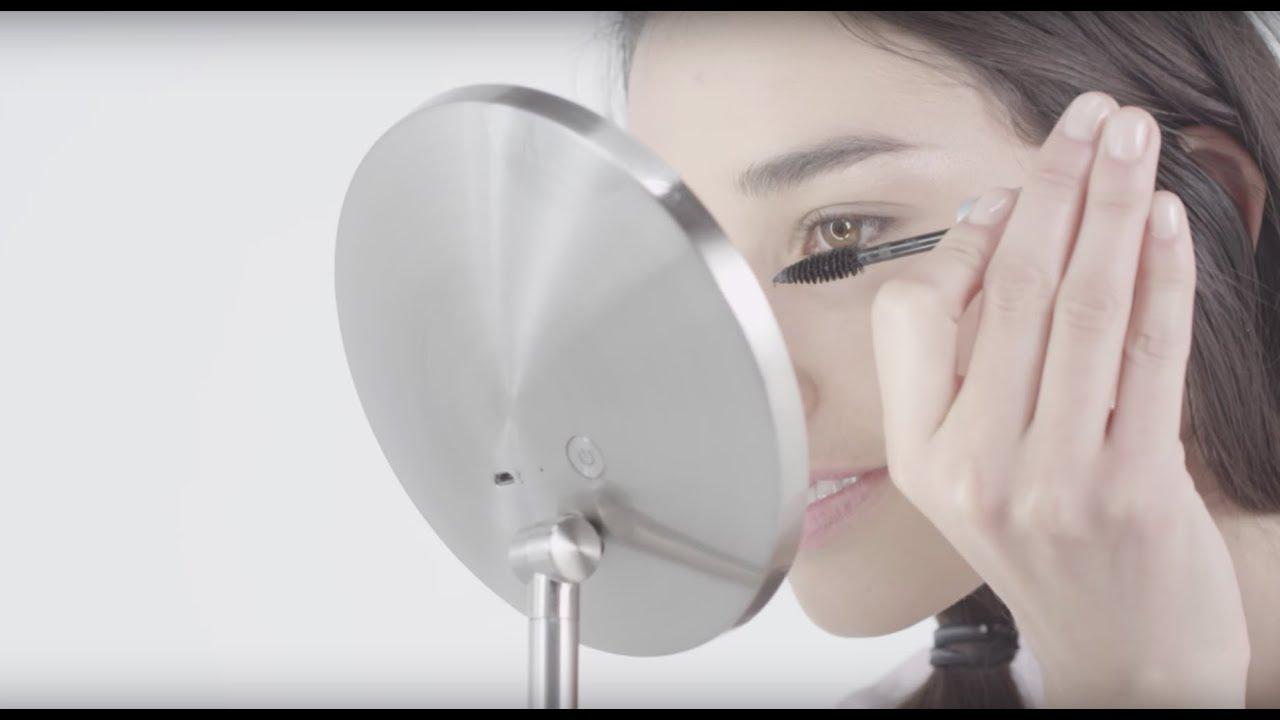 simplehuman mini sensor mirror lighted makeup  vanity