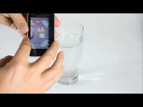 Sony Ericsson Xperia active water test