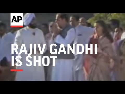 Rajiv Gandhi Is Shot At During Anniversary Celebration For The ...
