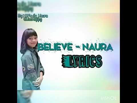 Lagu Believe - Naura Lirik