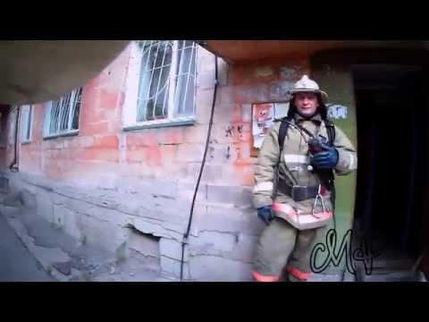 Насыщенные сутки. Камера на каске пожарного.