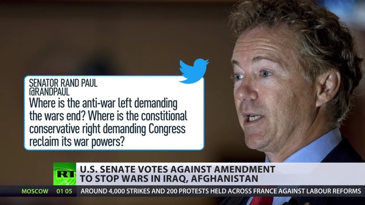 Anti-war amendment killed: 'Endless' war in Iraq & Afghanistan will continue