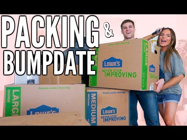 AND SO IT BEGINS! PACKING AND BUMPDATE | Casey Holmes Vlogs