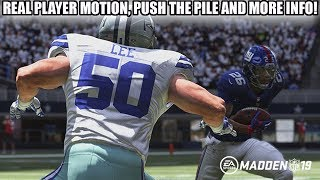 REAL PLAYER MOTION, PUSH THE PILE, ZONES, BURSTS AND MORE MADDEN 19 GAMEPLAY INFO!