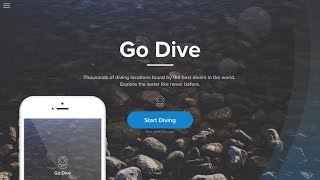 Web Design Speed Art - Go Dive Website in Adobe Xd