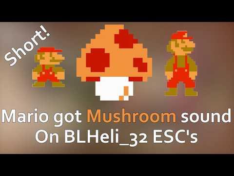 Super Mario got Mushroom sound effect [SHORT] [MINIMAL] on BLHeli_32 ESC's - Startup music