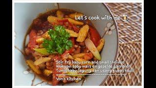 Stir Fry Baby Corn Wok Baby Mais Tumis Baby Jagung Vk51 Babycorn Youtube