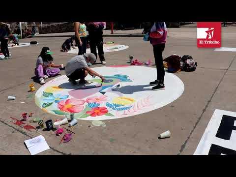 Tradicional pintada estudiantil 2021