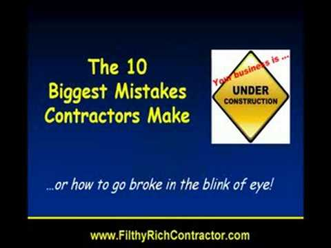 How Contractor Should Not Run His Construction Business