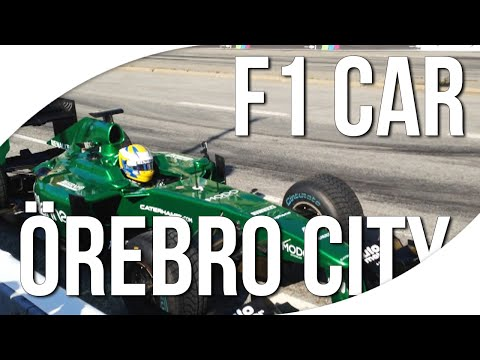 Marcus Ericsson: Caterham F1 in Sweden Örebro City + more awesome cars!