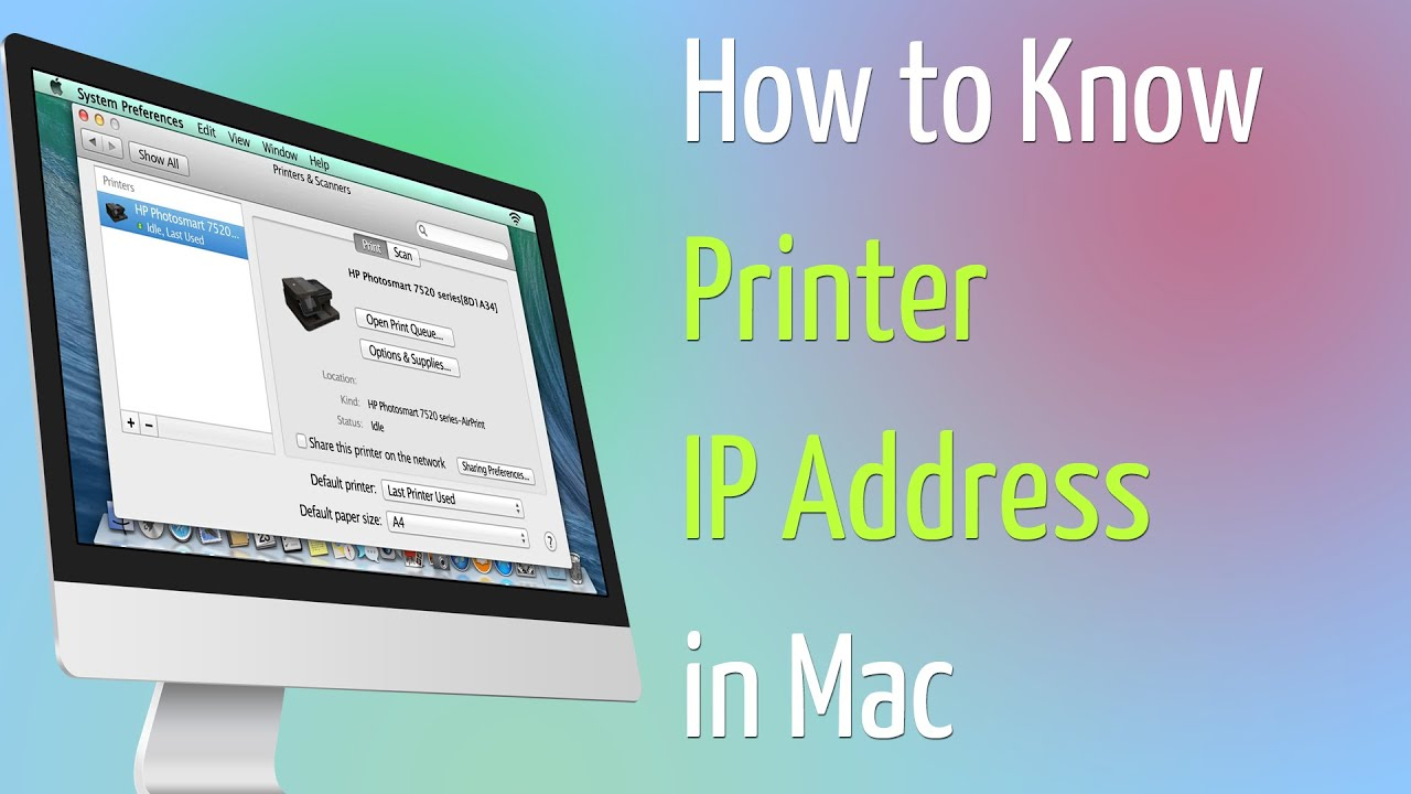 How to Know Printer IP Address in Mac - YouTube