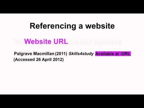 Harvard Referencing Part 7 - Websites