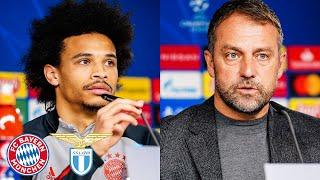 🎙️ Neuer und Coman sind fraglich | Pressetalk mit Leroy Sané & Hansi Flick | FC Bayern - Lazio Rom