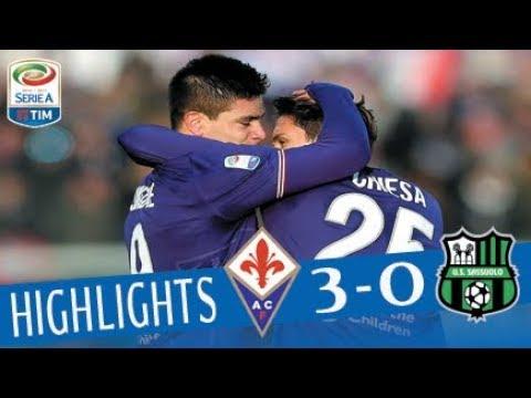 Fiorentina - Sassuolo 3 - 0 - Highlights - Giornata 15 - Serie A TIM 2017/18