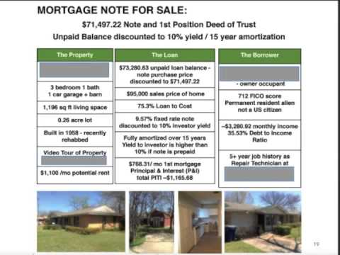 investing and tax strategies for mortgage note investors