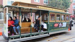 Знаменитый канатный трамвай Сан-Франциско - San Francisco cable car whole ride(Я очень хотела показать деткам известный трамвай. 8 долларов с человека в одну сторону, дети до 5 лет бесплат..., 2015-12-17T16:24:52.000Z)