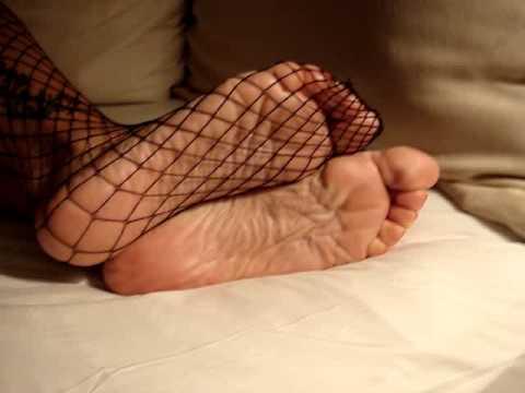 Fishnet pantyhose foot worship goddess scotland