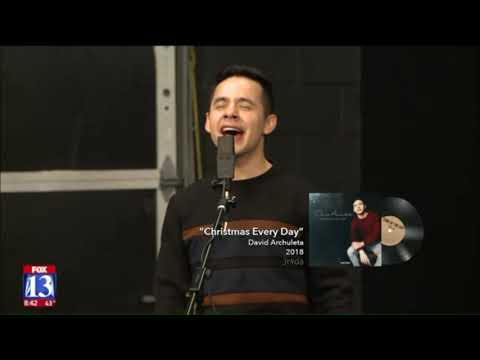 David Archuleta Sings Christmas Every Day @ Fox13UT (20181101)