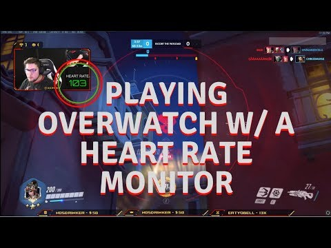 PLAYING OVERWATCH W/ A HEART RATE MONITOR thumbnail