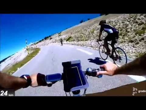 Climbing  Mont Ventoux on an ebike FAST