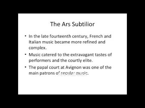 "Ars subtilior, ballade, ""En remirant vo douce pourtraiture,"" by Philippus de Caserta (c. 1370)"