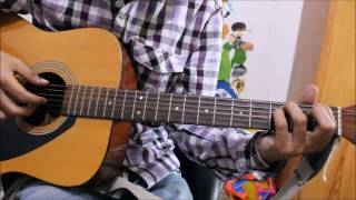 chahun main ya na guitar cover lesson chords intro full easy version
