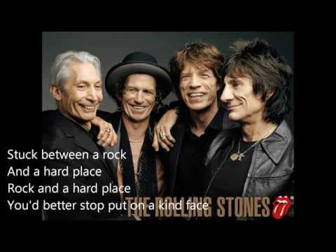 The Rolling Stones -  Between a Rock and a Hard Place (Lyrics)