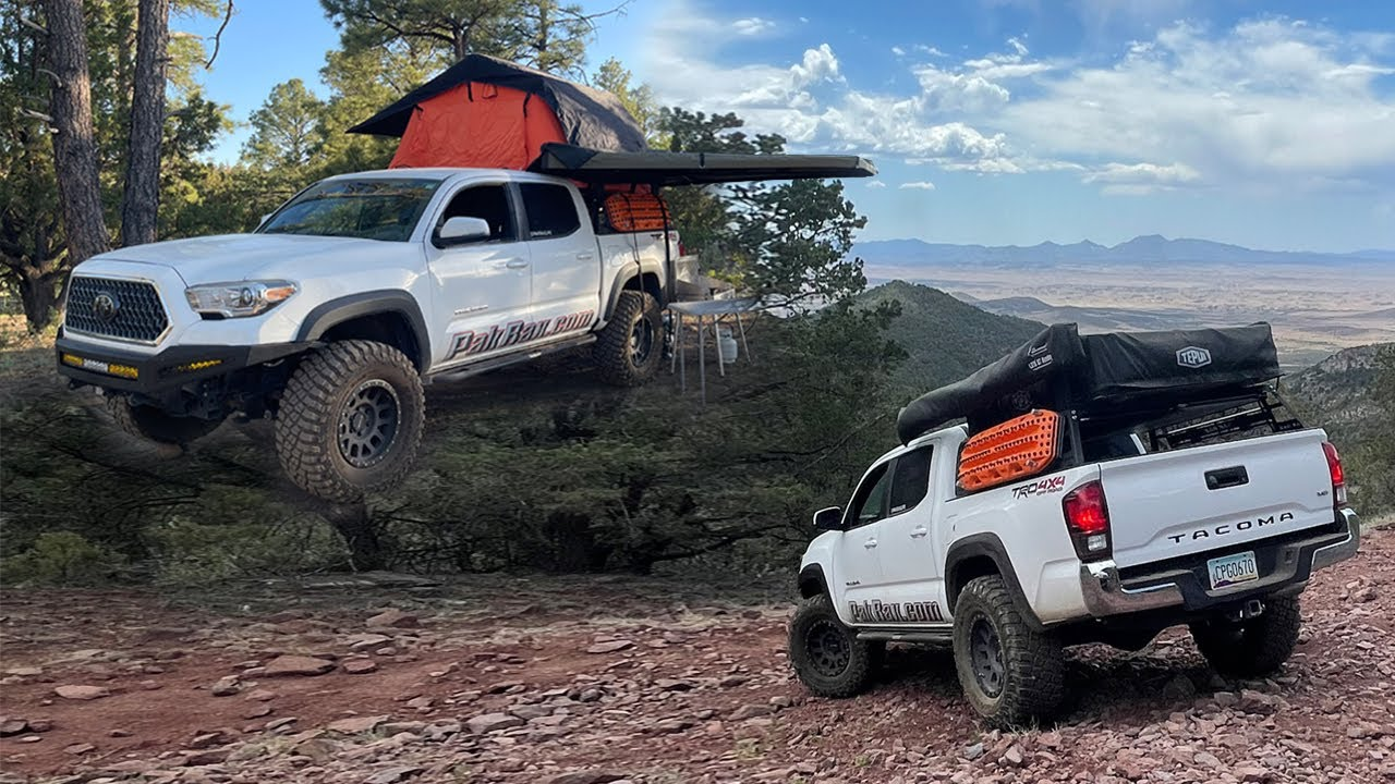 Setting camp and Offroading with a Rooftop Tent 270 awning - Pakrax Tacoma
