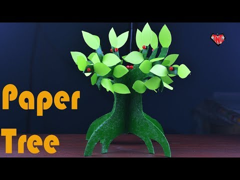How To Make A Paper Bonsai Tree | DIY Artificial Tree With Cardboard | Easy Paper Crafts