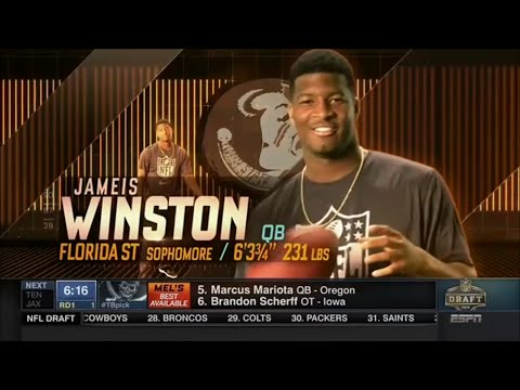 2015 NFL Draft Rd 1 Pk 1 | Tampa Bay Buccaneers Select QB Jameis Winston