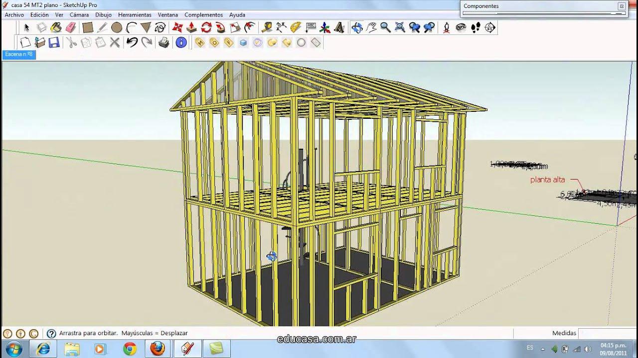 Curso para hacer casa de madera prefabricada youtube for Programa para distribuir una casa