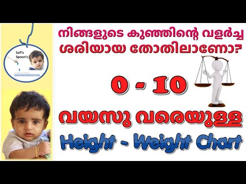 Baby Care - Part 2 - Baby Height Weight Chart | Safi's Spoons