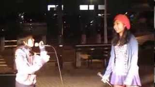 2013.11.23 南流山駅前ストリートライブ(part1) 冨田陽菜さんと藤田織...