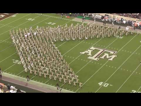 Fightin Texas Aggie Band Halftime Drill  Alabama Game at Kyle Field  Oct 7, 2017