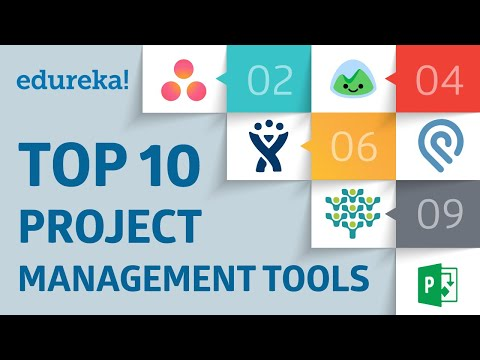 Top 10 Project Management Tools | PMP Tools and Techniques | PMP Training Videos | Edureka