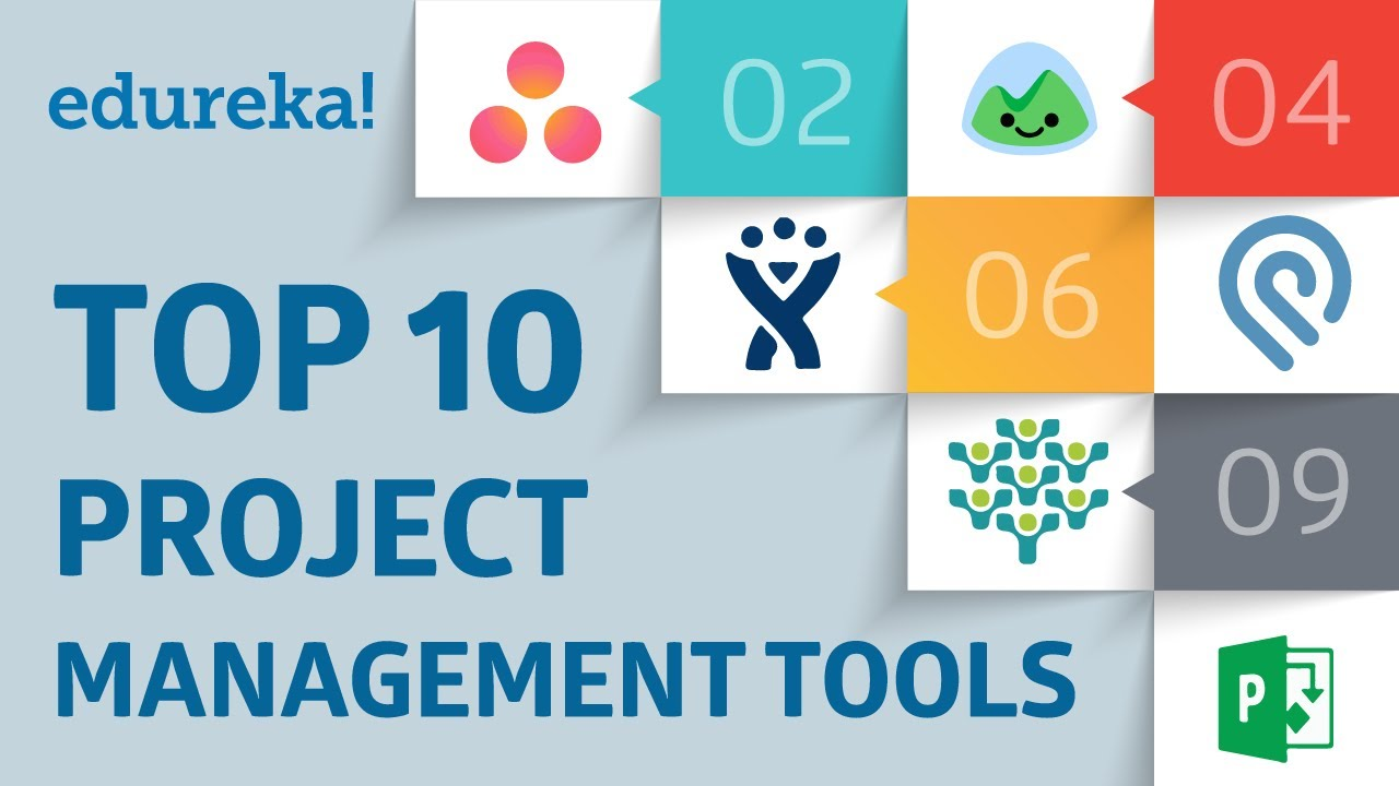 Top 10 Project Management Tools | PMP® Tools and Techniques | PMP® Training Videos | Edureka