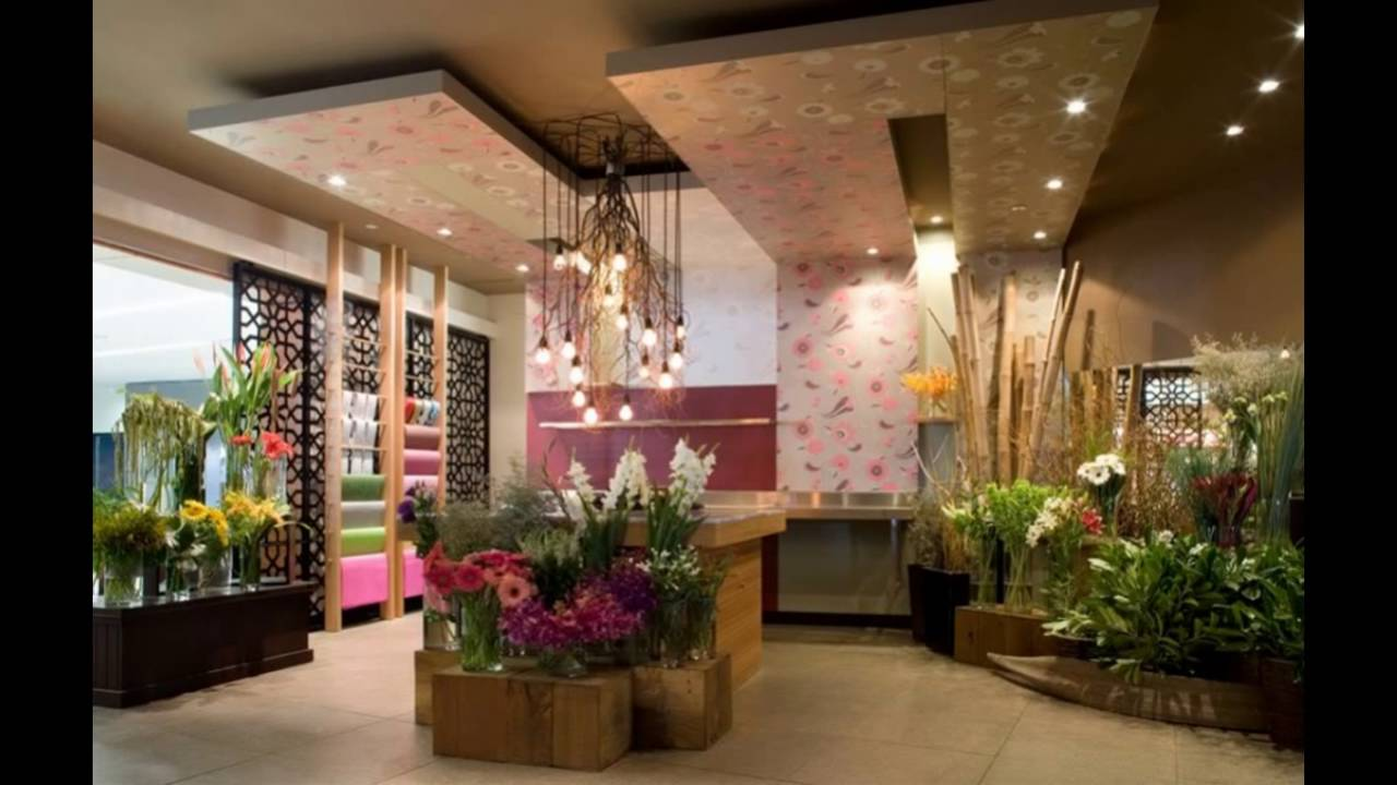 Flower shop interior design ideas youtube for Interior decoration design ideas