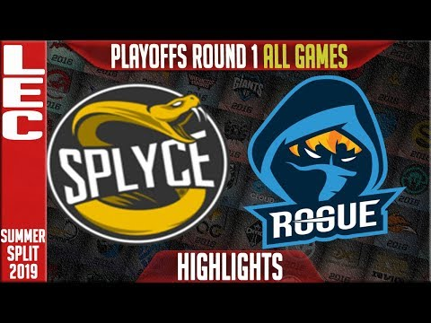 SPY vs RGE Highlights ALL GAMES | LEC Summer 2019 Playoffs Round 1 | Splyce vs Rogue