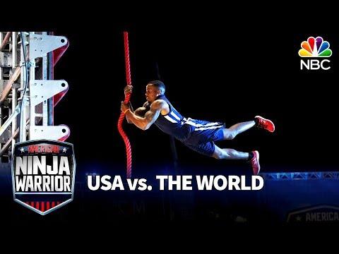 Najee Richardson's Stage 2 Run - American Ninja Warrior: USA vs. The World