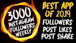 Get 7000 INSTAGRAM FOLLOWERS DAILY WITH PROOF - NEW INSTAGRAM FOLLOWERS APP 2019 - INSTAGRAM HACKS