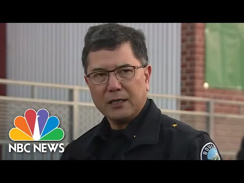 Boulder Officials Hold Press Conference: No Ongoing Threat After Supermarket Shooting | NBC News