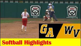 Dudley, GA vs Hedgesville, WV Softball Highlights, 2021 Little League World Series