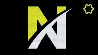 Adobe illustrator tutorial : Create Letter Logo Design Using Font and Pen Tool - Text Effect Logo