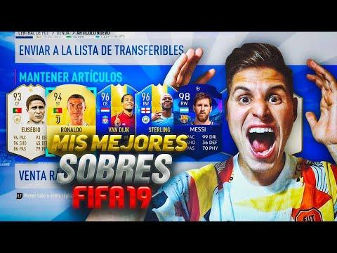 CRISTIANO RONALDO, MESSI, ICONOS!!! | MIS MEJORES SOBRES DE FIFA 19!!