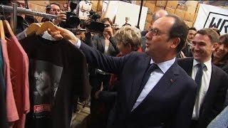 Séance shopping pour Hollande chez la marque streetwear Wrung