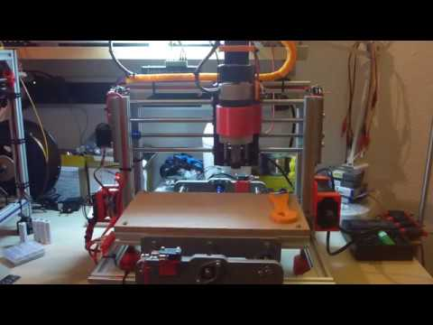 CNC 2417 - very first milling (demo) & homing