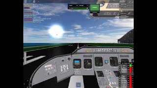 Short flight in Flight simulator [ROBLOX] CRJ!!!